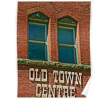 Old Town Building Poster