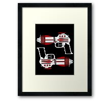 Retro Space Ray Guns by Chillee Wilson Framed Print