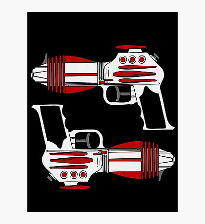Retro Space Ray Guns by Chillee Wilson Photographic Print