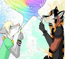 Blowing Bubbles by Keaya