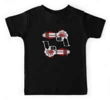 Retro Space Ray Guns by Chillee Wilson Kids Tee