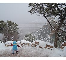 Winter Challenges at the Grand Canyon Photographic Print