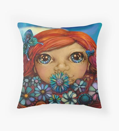 Love is the Flower You've Got to Let Grow Throw Pillow