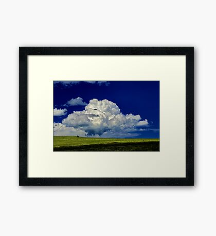 """The Little White Cloud That Cried"" Framed Print"
