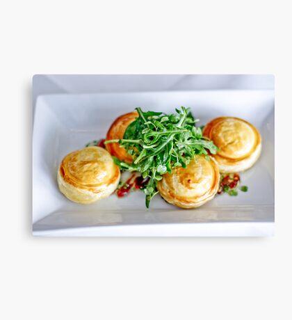 Food: Goats cheese tart Canvas Print
