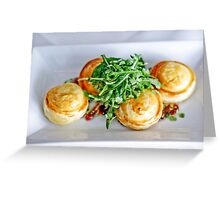 Food: Goats cheese tart Greeting Card