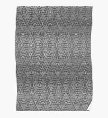 Silicon Atoms Grey 2 Poster