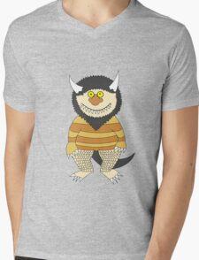 Friendly Monster Mens V-Neck T-Shirt