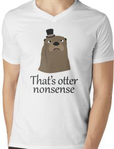 Otter Nonsense Mens V-Neck T-Shirt
