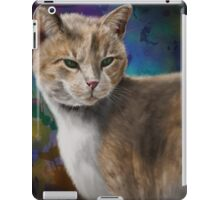 Beautiful Furry and Fluffy Brown Cat Portrait iPad Case/Skin