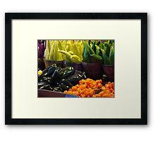 Colorful Vegetables Framed Print