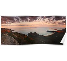Morning view from Mount Oberon - Wilsons Promontory Poster