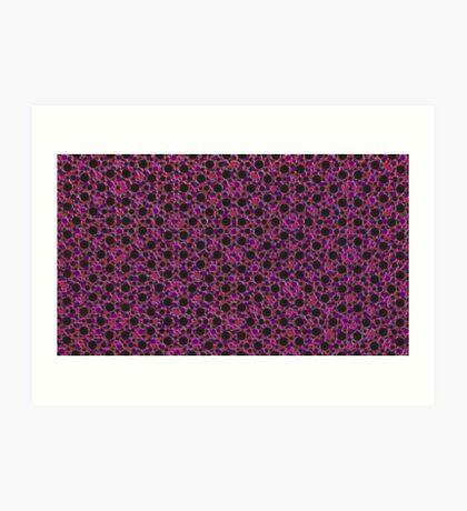 Silicon Atoms Purple Red Black Art Print