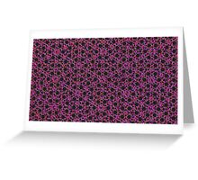 Silicon Atoms Purple Red Black Greeting Card