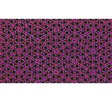 Silicon Atoms Purple Red Black Photographic Print