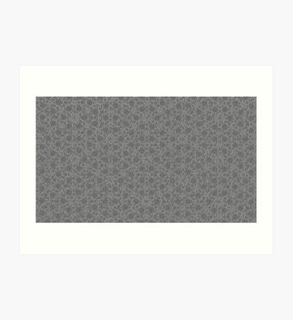 Silicon Atoms Grey 1 Art Print