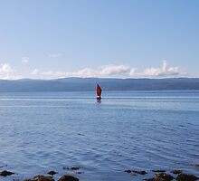 Little Red Sail, Pirnmill, Isle of Arran  by clara  caulfield