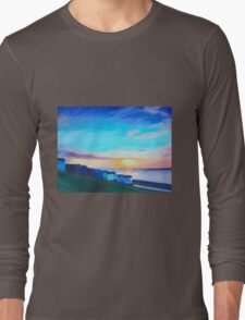 Whitstable Beach Long Sleeve T-Shirt