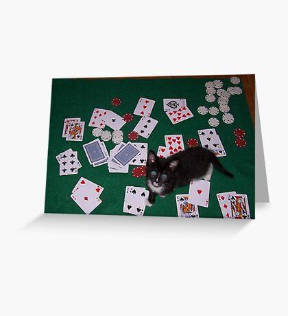 Joop playing poker Greeting Card