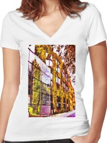 The Living Wall Women's Fitted V-Neck T-Shirt