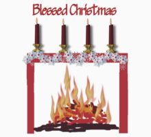 Blessed Christmas fire and candles Kids Clothes