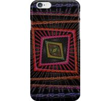 Kaleidoscopic Squares in multiple Colors on Black Background iPhone Case/Skin