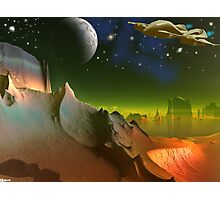 Planet of the Green Mist Photographic Print