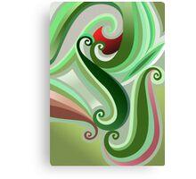 Green curve Canvas Print
