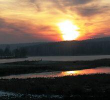 Sunset over Nava Lake by arvyart