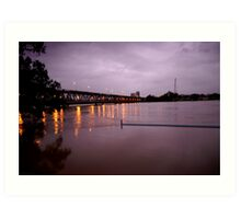 Clarence river in flood Art Print