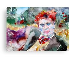 DYLAN THOMAS - watercolor portrait.3 Canvas Print