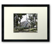 Small White Church in Titusville Fl. Framed Print