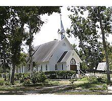 Small White Church in Titusville Fl. Photographic Print