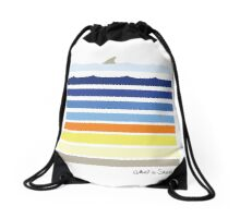 What a Shark Drawstring Bag