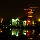 Windmill at night by Janone