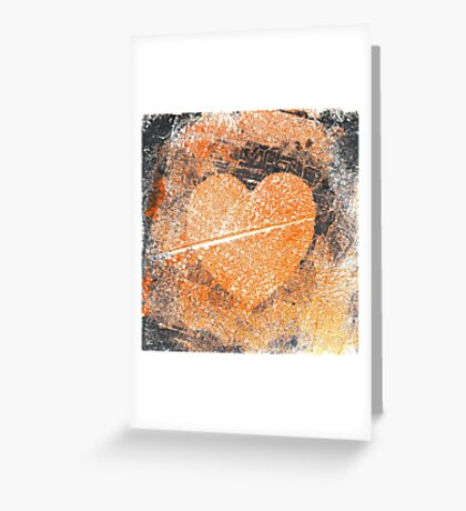 grungy heart Greeting Card