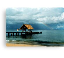 Rainbow at Pigeon Point Canvas Print