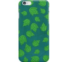 Maple Leaves in Green iPhone Case/Skin