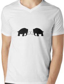 2 Mammoths Mens V-Neck T-Shirt