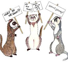 Ferret protest by fuzzbumdesigns