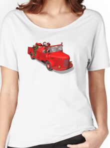 Santa Claus Driving A Fire Truck Women's Relaxed Fit T-Shirt