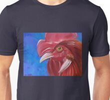 Here Comes the Rooster - Digital Paint of a Red Rooster Unisex T-Shirt