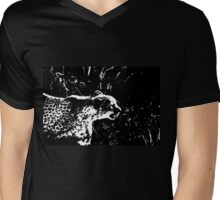 Cheetah Stalker Mens V-Neck T-Shirt