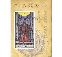 Justice Tarot Card Fortune Teller by designsbycclair