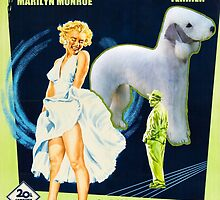 Bedlington Terrier Art - The Seven Year Itch Movie Poster by NobilityDogs