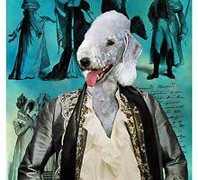 Bedlington Terrier Art - Baron by NobilityDogs