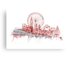 London skyline maps Canvas Print