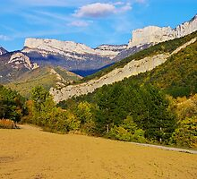 Autum landscape in Drome mountains by Patrick Morand