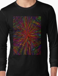 Colorful-Lines Long Sleeve T-Shirt