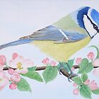 A Blue Tit in the spring by aquartistic